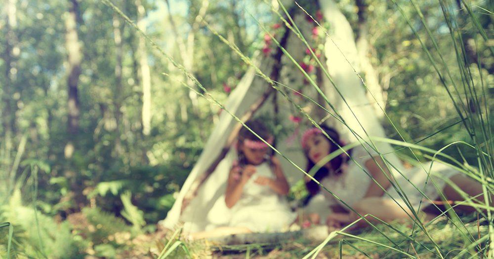 Séance photo famille bohème en forêt d'Evreux Eure
